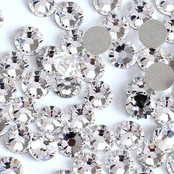 Diamante Me Glass Heart Hotfix Flat Back Rhinestone gems 50 per pack
