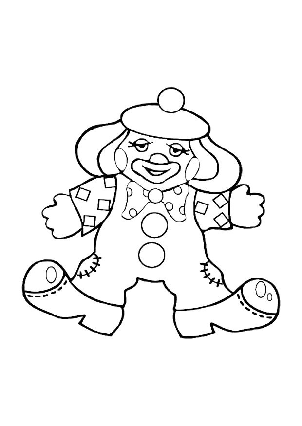 Clown Coloring Pages | Coloring page clown - img 10590.