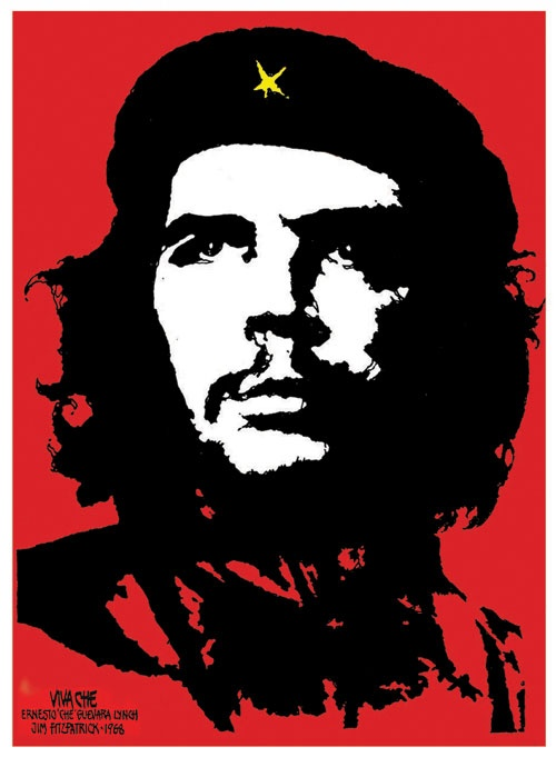The original 1968 stylized image of Che Guevara [Jim Fitzpatrick]