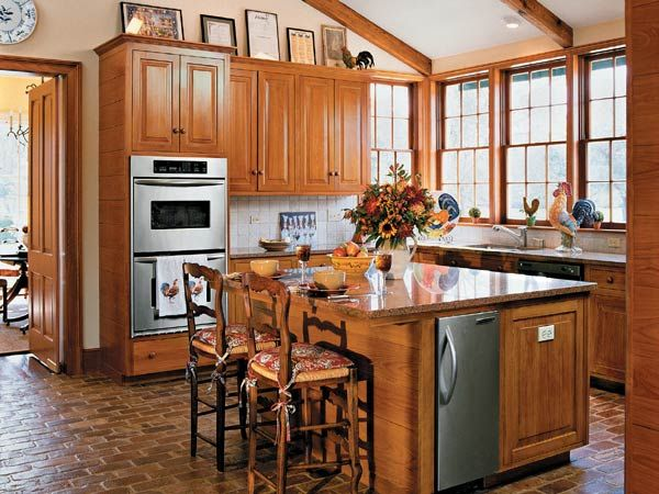 164 best rooms with wood stained trim images on pinterest for Southern style kitchen ideas