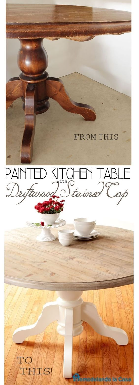 Kitchen Table and Chairs Makeover