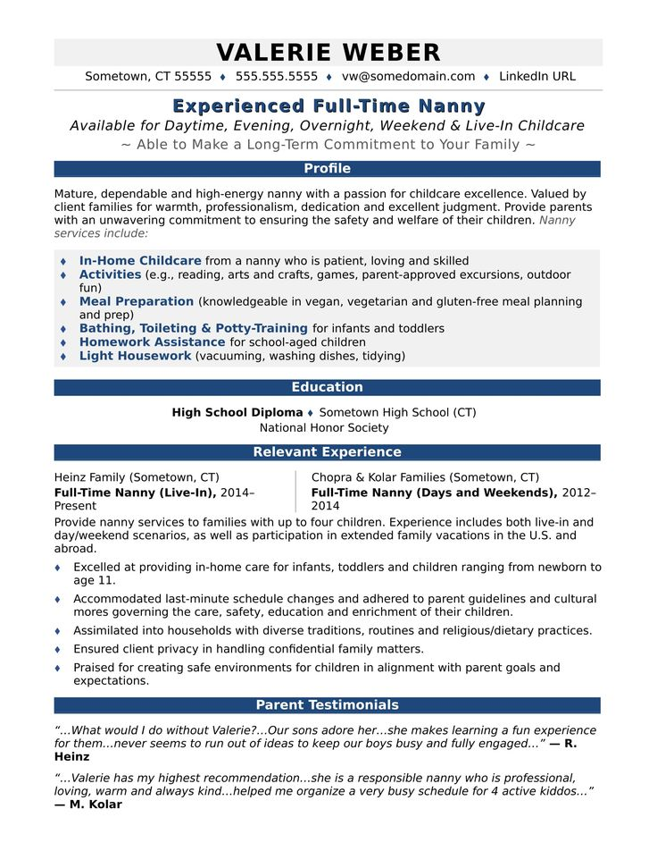Nanny resume sample Babysitter jobs, Education quotes