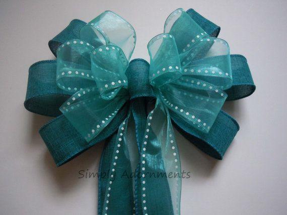 Biskaya-Bucht-Hochzeits-Bank-Bogen-Strand-Hochzeits-Dekoration von SimplyAdornmentsss   – Wedding Pew Bows / Bows for Decorations