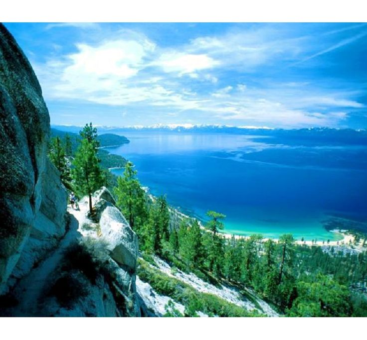 "Lake Tahoe; most beautiful lake ever and so close to my hometown...makes me miss my friends and family. Joey and I went on our first ""official"" date here http://papasteves.com"