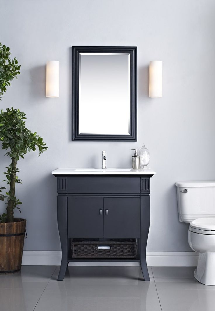 Photo Album For Website Images of Xylem Camino V CAMINO DRBK Vanity with Doors in Black Country Bathroom