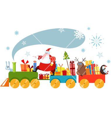 Christmas train vector by nem4a - Image #109292 - VectorStock
