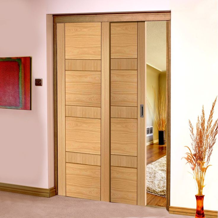 Easi Slide Op3 Oak Latina Flush Sliding Door System In Three Size Widths Latinas Track And