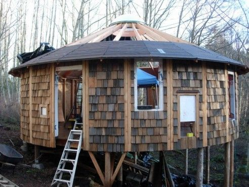 how to build a yurt cheap