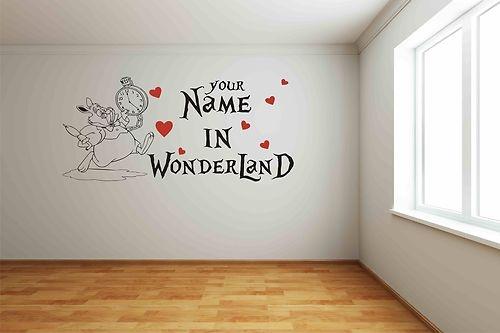 Personalised Alice in Wonderland Childrens Bedroom Wall Sticker Wall Art | eBay