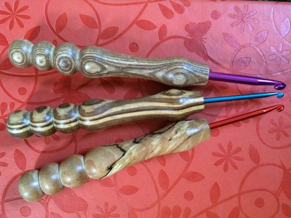 Hand Turned Wooden Handle Crochet Hooks By Yoewemakes On