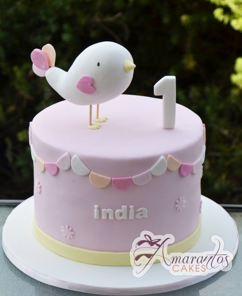 Two Tier Bird Cake Ac78 Amarantos Cakes Party Time In
