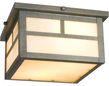 Craftsman Outdoor Flush Mount - modern - outdoor lighting - Wayfair