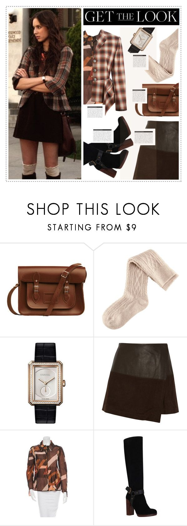 """""""Get The Look: Spencer Hastings #4"""" by fran-tasy ❤ liked on Polyvore featuring The Cambridge Satchel Company, H&M, Chanel, Alice + Olivia, Fendi, KG Kurt Geiger, Jean-Paul Gaultier, BoConcept, GetTheLook and TVStyle"""