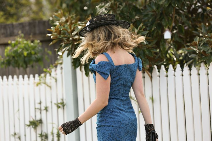 The gorgeous @whatwouldkarldo wearing the Enamel Jacquard Dress #acstyle