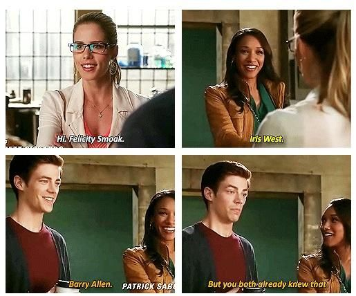 The Flash - Felicity, Iris and Barry #1.4 #Season1