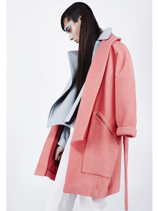 Photographer: Maude Arsenault, Judy Inc #photography #fashion #style #hair #makeup #beauty #pink #coat #clothing