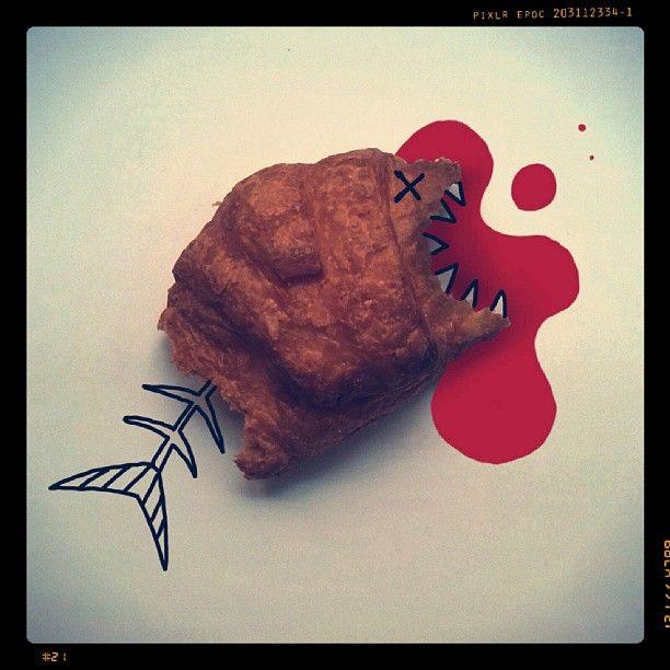 Hoy me ha atacado un croissant...