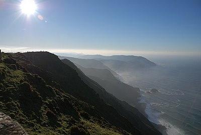 The tallest cliff in Europe.  San Andres de Teixido. Galicia. Spain