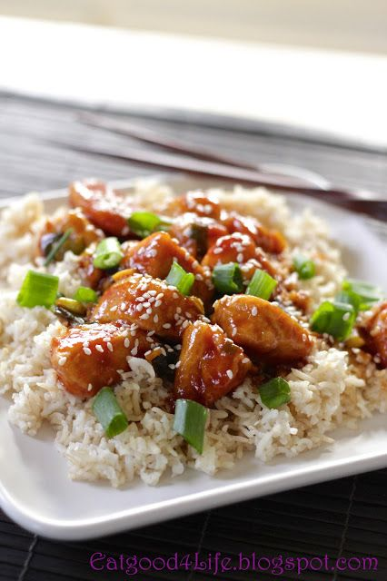 Quick General Tso's Chicken **Just check to make sure it has no gluten in the ketchup and that the peach jam is allowable in stage 1)