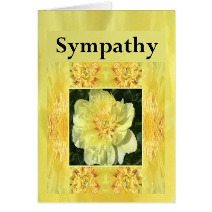 #flower - #Yellow Spring Flower Sympathy Card for Anyone