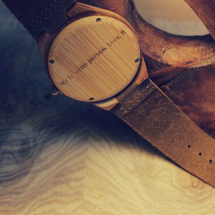 """""""My Favorite Person. Love, Your Name Here"""" personalized wood watch, anniversary gift, romantic gift for him from #Treehut Co."""