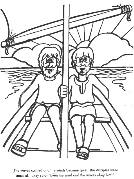 17 Best Images About Vbs On Pinterest Crafts Storms And Jesus Calms The Coloring Page