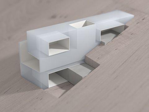 Architectural Model:  Architecture W - Hill House 2