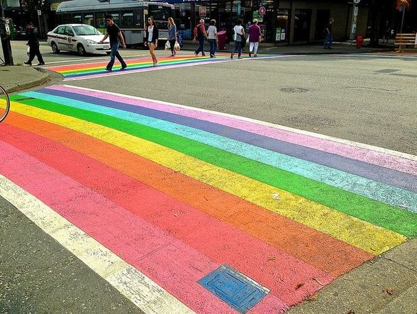 Now the bowmageddon is primed to become complete, with a plan to bring in cheery new crosswalks striped with all the colors of the visible s...