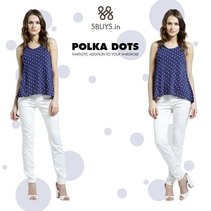 #Women #polka #dots #tops collection...add to wardrobe now >>> http://www.sbuys.in/women-clothes/collection/style/polka.html