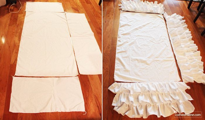 Tiered Ruffle Crib Skirt (A Pottery Barn Kids Knockoff) | come on, ilene!