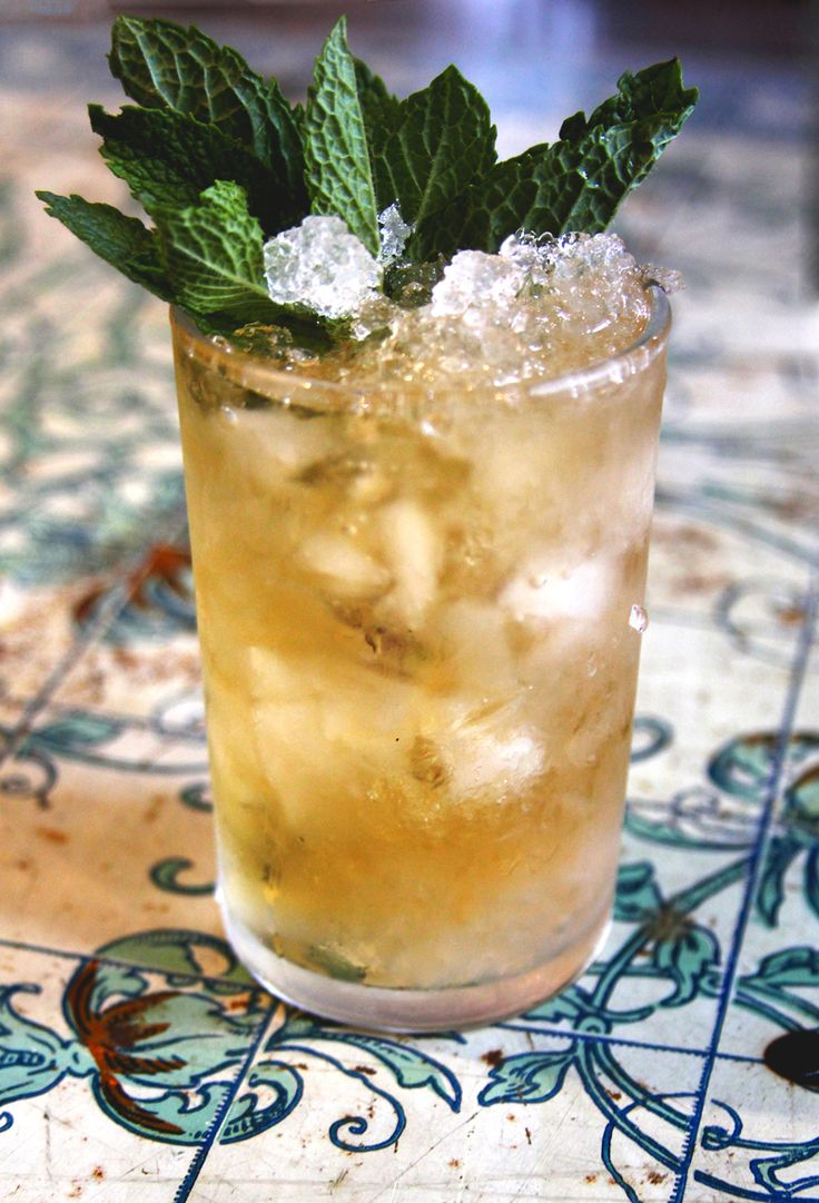 The Thousand-Dollar Mint Julep - I love Bourbon based cocktail and this is perfect.