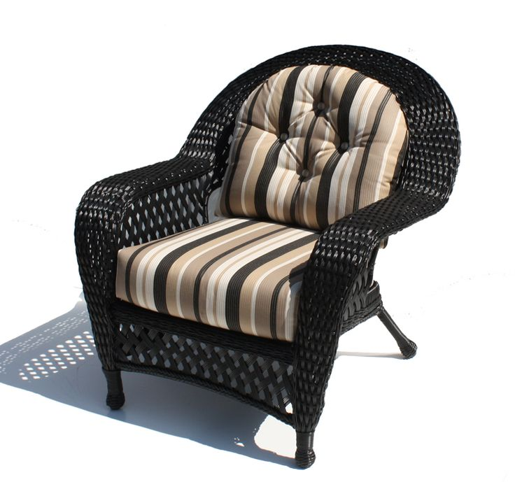 Black Outdoor Wicker Chairs