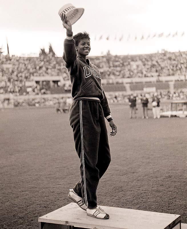 """Wilma Rudolph, also known as """"The Black Gazelle"""", """"The Tornado"""" and """"The Black Pearl"""", was the first woman to ever win three track and field gold medals in one Olympic Game. The Tennessee State alumni was also a noted Civil Rights and Women's Rights advocate and pioneer."""