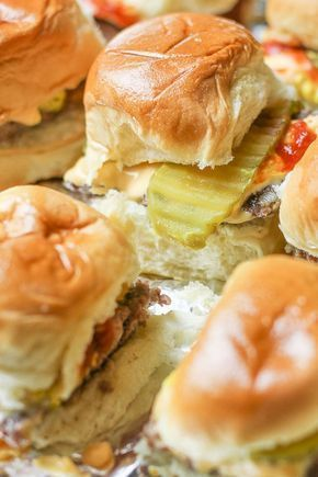 This Juicy Oven Baked Burger Sliders Recipe was inspired by the famous Krystle Burgers. These cheesy, flavorful little burgers are easy to make in big batches and are guaranteed to disappear in minutes!