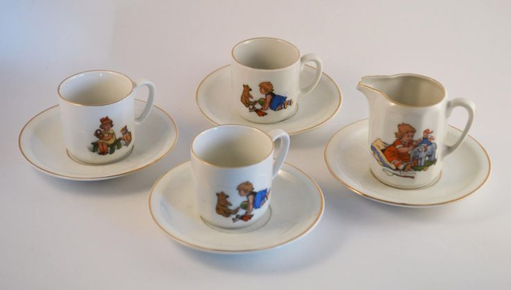 Vintage Porcelain Tea Set for Children, Made in Germany, Early 1900's by Retrorrific on Etsy