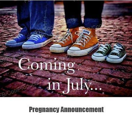 zwangerschapsaankonding: allstars schoenen