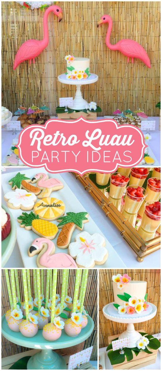 Retro Luau Grad Party #fiesta #motivo #luau #hawai #tematico