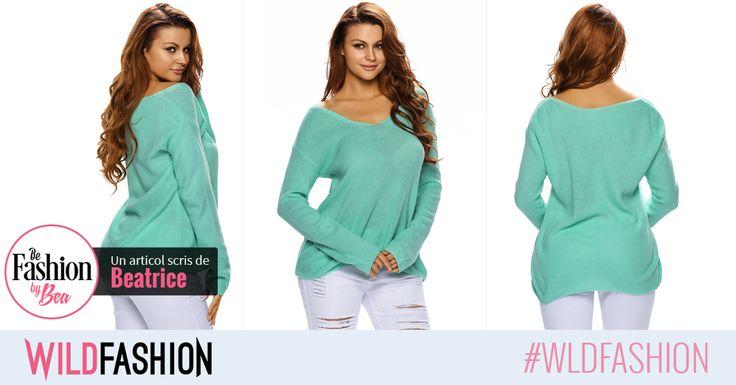 Pentru zilele ploioase sau pentru serile racoroase, alege o bluza tricotota si colorata! Aceasta e perfecta: