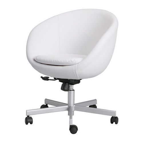 Great SKRUVSTA Swivel Chair, Idhult White   Ikea. Love This Beautiful White Chair  To Go
