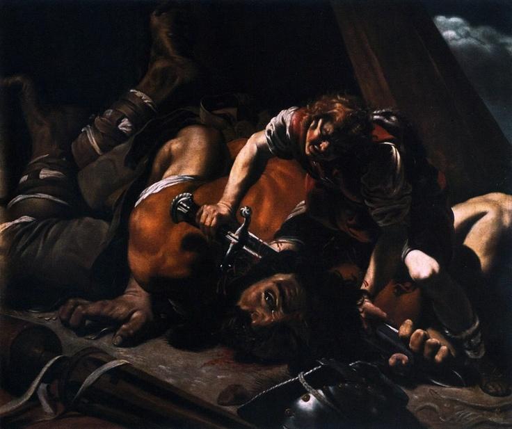 David and Goliath. Orazio Borgianni