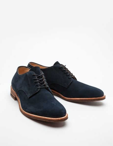 Alden Patterson Unlined Dover - navy suede lace-ups ($490, from Need Supply Co.)
