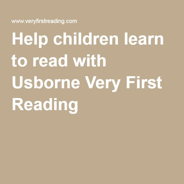 Help children learn to read with Usborne Very First Reading