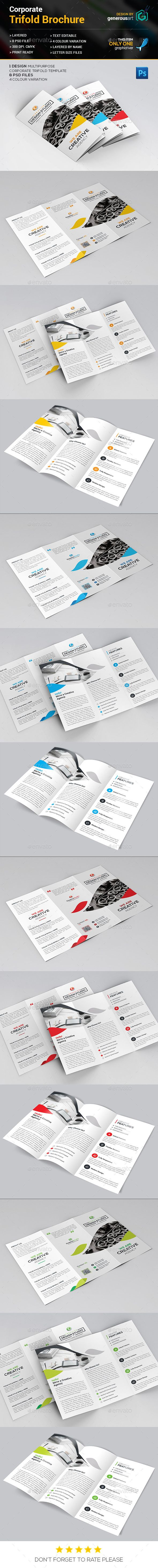 Trifold Brochure Template PSD #design Download…