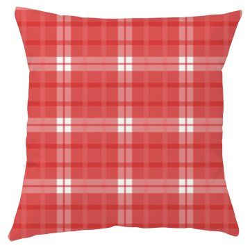Cute Red Plaid Design  | Red Gingham Check Plaid Fabric Pattern Squares