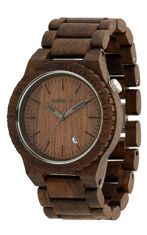 gorgeous classic watch made out of wood. (for the guy who has everything)