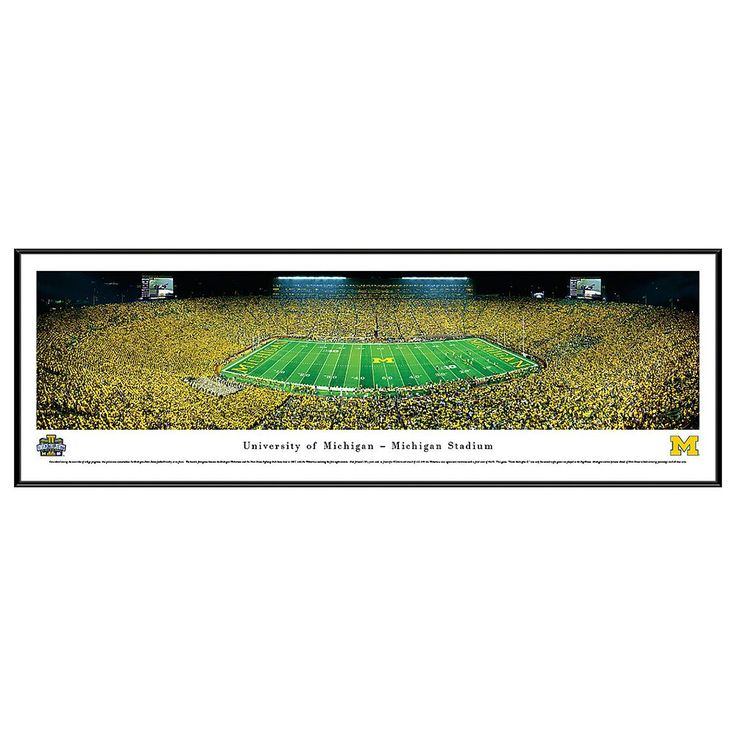 Michigan Wolverines Football Stadium 50-Yard Line Framed Wall Art, Multicolor