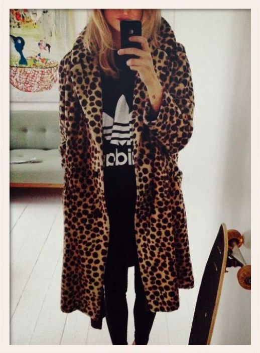 LEOPARD + ADIDAS  I CAN DREAM  XXXbureauofjewels/etsy and facebook