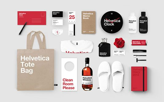 Helvetica has been reimagined as a hotel.
