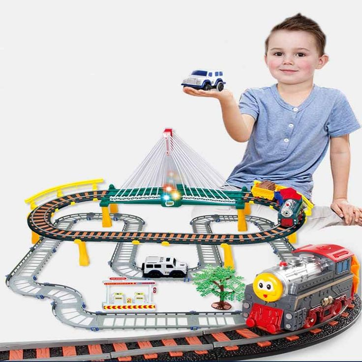 Road Railway Toys For Children DIY Track Car 1:25 Luminous Track Curved Flashing Set Model Car Kids Pipes Racing Truck Vip Link