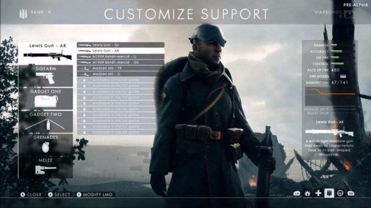 Battlefield 1 - customisation.